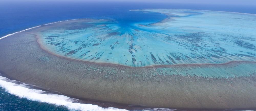 Aerial shot of Middleton Reef
