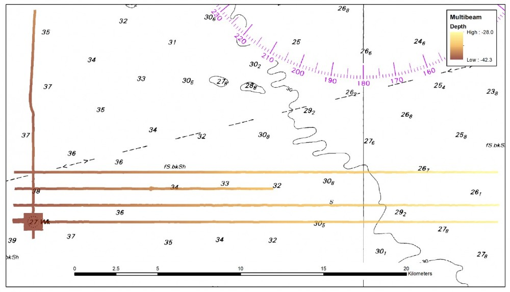 Additional Multibeam Transects south of Carpentaria Shoal